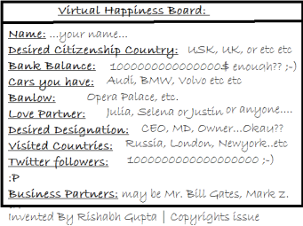 Virtual Happiness Board